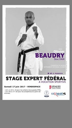 Stage avec Olivier BEAUDRY le 17 juin 2017- Vendespace